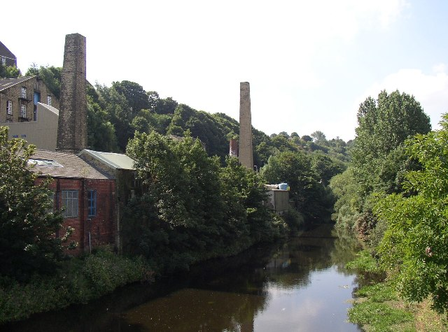 View from Elland Bridge, looking west