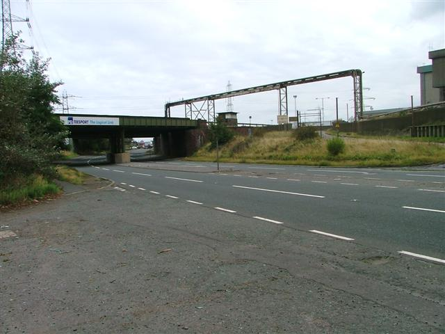 Disused Railway Bridge Over Tees Dock Road