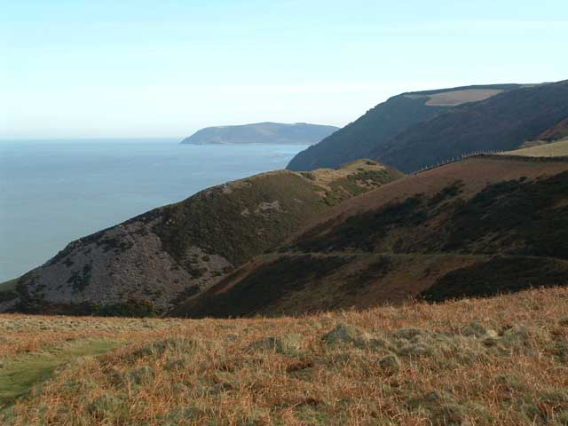 View from Foreland Point towards Hurlstone Point