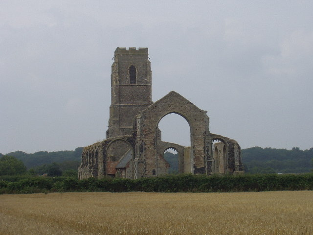 St Andrews Church, Covehithe from the East