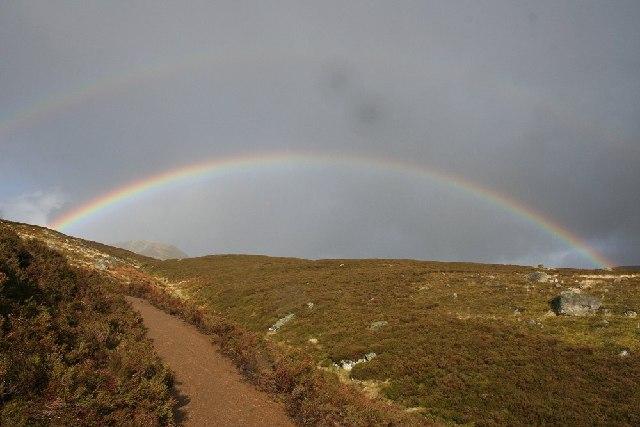 Double rainbow over Loch Brandy