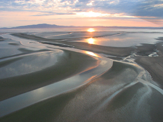 Sands of the Solway at Sunset