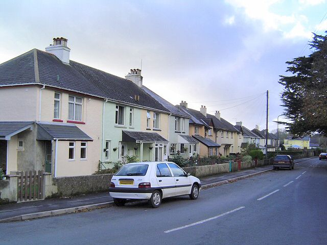 Houses, south side of Orley Road, Ipplepen