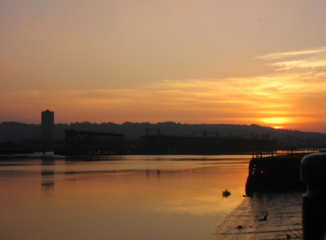 Sunset over Dunston Staithes
