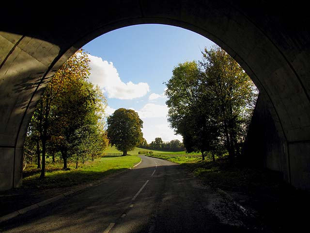 Looking Back Through the Tunnel Towards Boxford