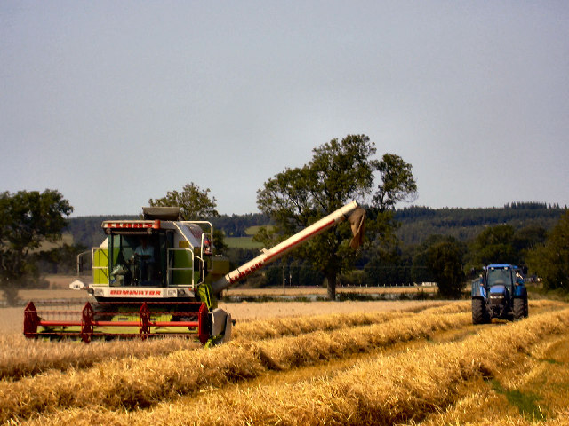 Harvesting on Gloagburn Farm