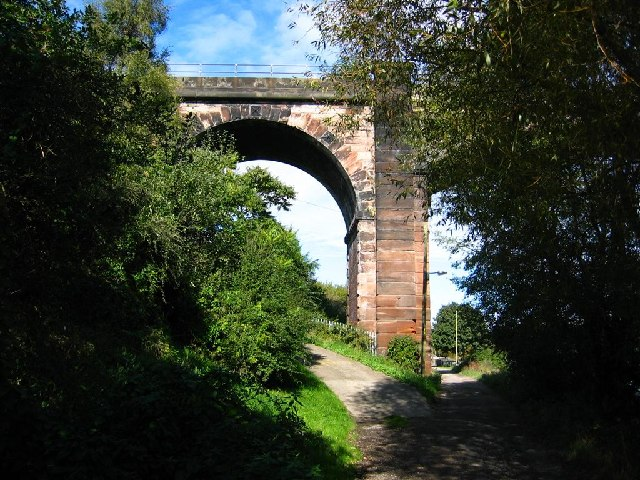 Railway Viaduct over the Weaver at Frodsham