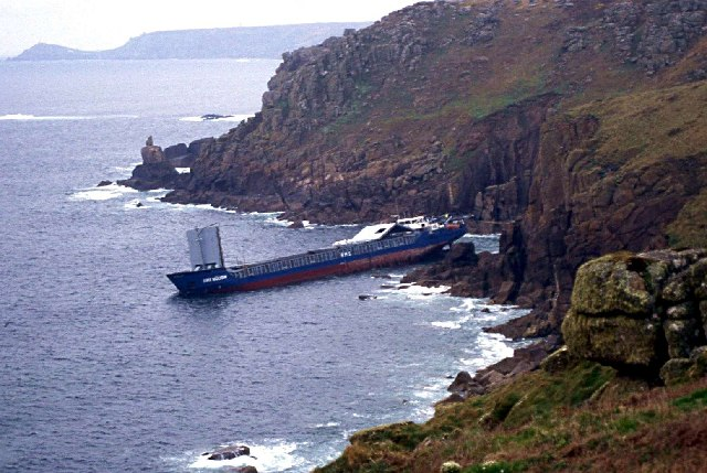 Wreck of RMS Mulheim near Sennen