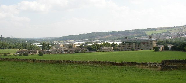View of the Calder valley from Exley Lane, Elland