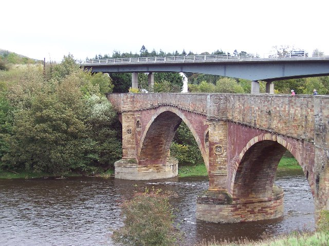 The Drygrange Bridge over the River Tweed
