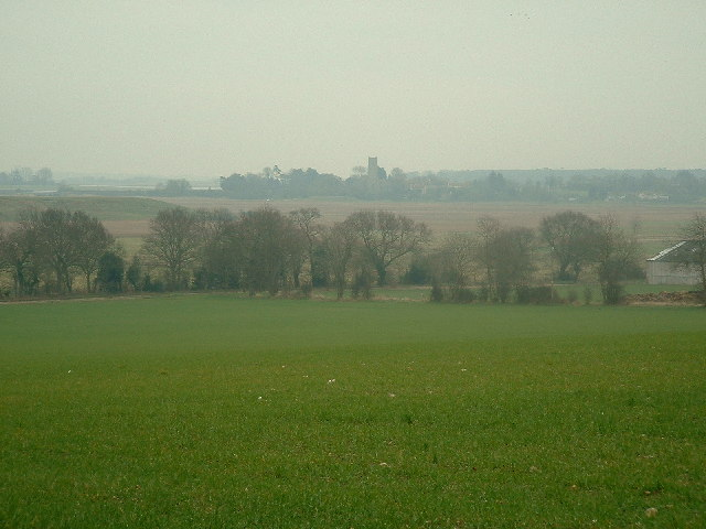 Fields and marshland surrounding Laurel Farm