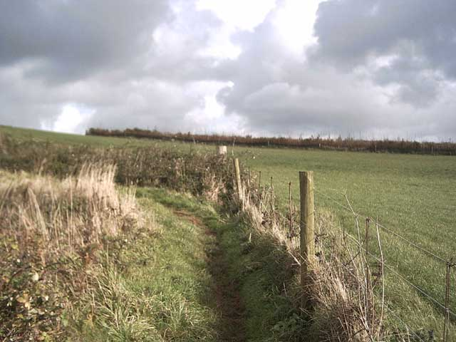 South West Coast Path: looking towards Kennel Copse