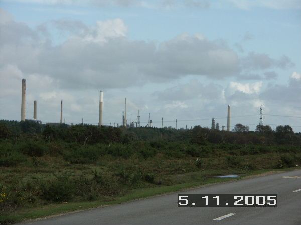 Fawley refinery on the skyline