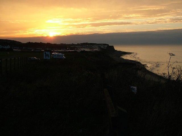 Sunset looking from Cromer towards East Runton
