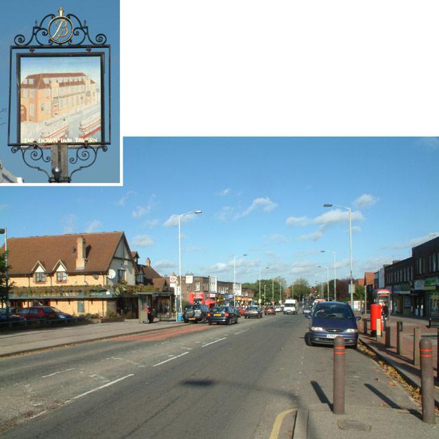 Downham Way & the Downham Tavern, BR1