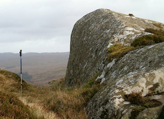 Glaciated rock on Dun Dubh, Ford, Argyll