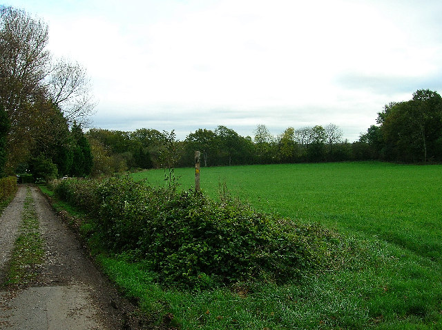 The end of Wellhouse Lane, Burgess Hill