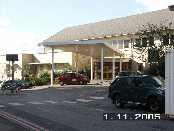 Entrance to Eye Unit at Southampton General Hospital