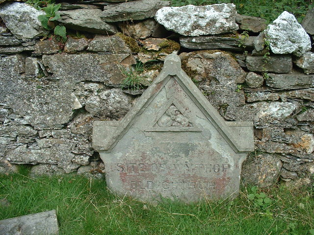 Memorial stone Wythop Old Church Kelswick