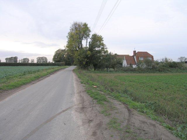 Narrow Country Lane near Bradwell on Sea