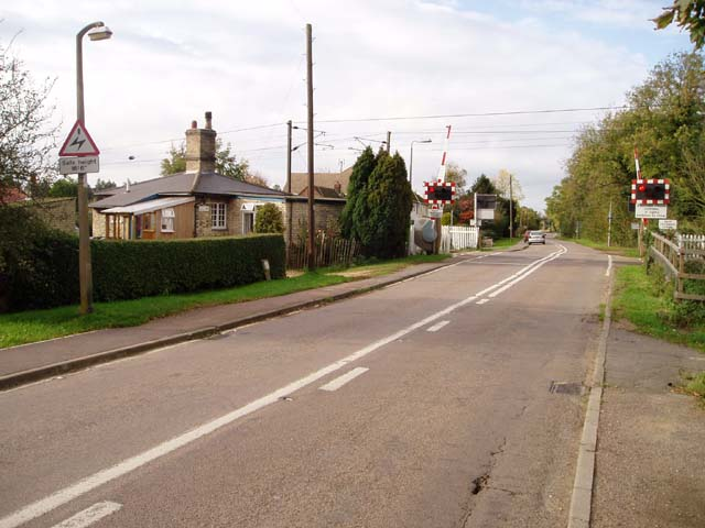 Level crossing at Little Shelford