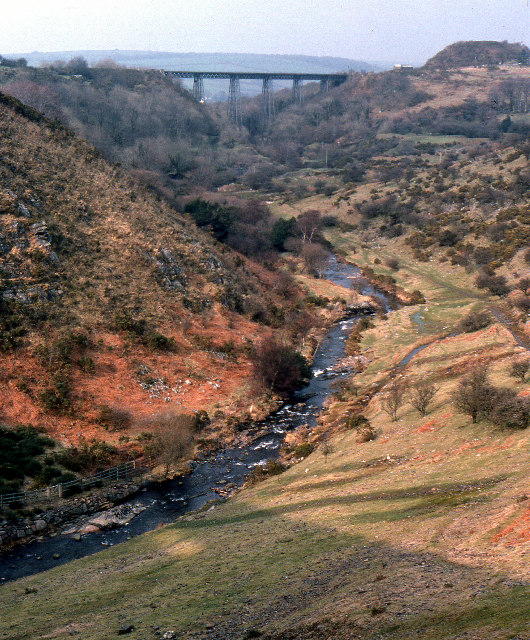 West Okement valley, below Meldon Reservoir