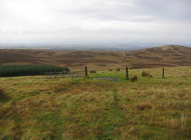 Ridge, west of Cap Law.