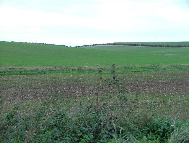 Farmland photographed form near Pembroke Farm