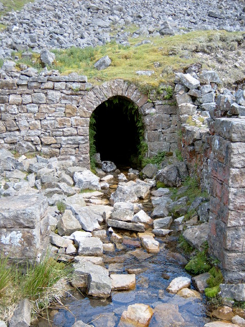 Bunton Mine Entrance, in Gunnerside Gill