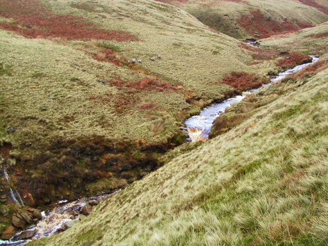 Waterfall on Crowden Little Brook