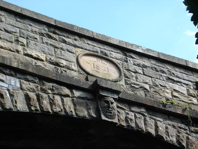 Date and Carving on canal Bridge Union Canal
