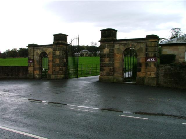 Gates to Aske Hall