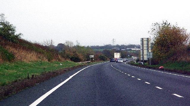 The A75 near Annan