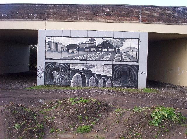 Mural on Motorway Flyover