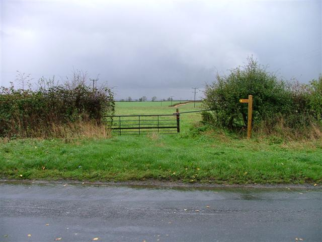 Public Footpath at Lucy Cross
