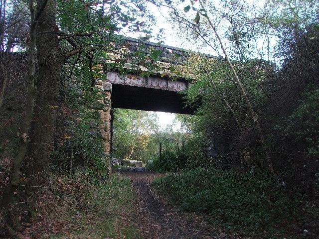 Road bridge over dismantled railway nr Monckton Manor.