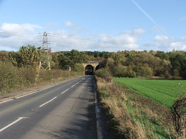Railway bridge over Haw Park Lane.