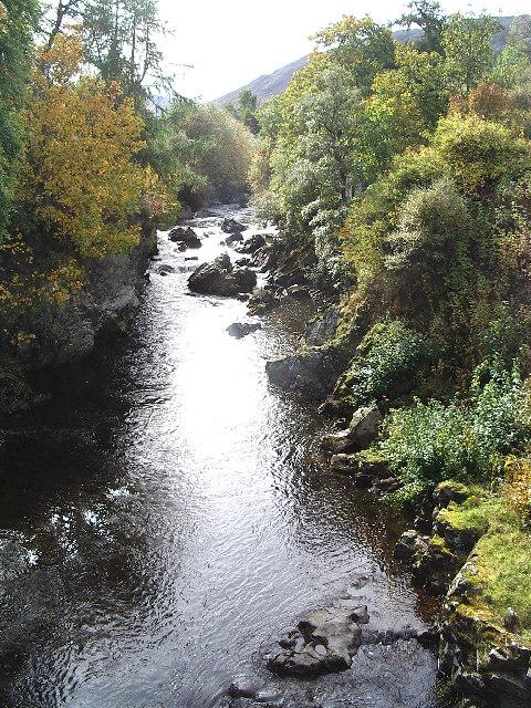 The Clunie Water at Braemar.