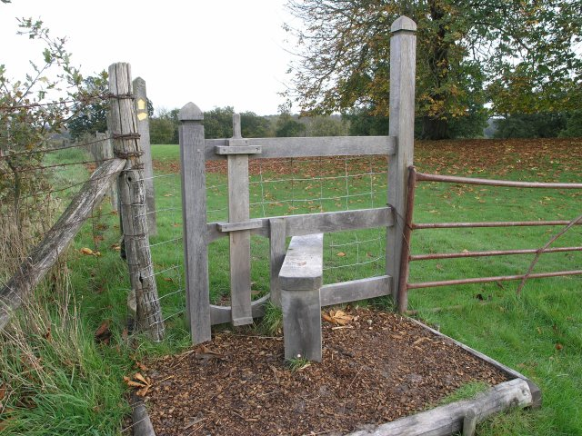 A stile on the grounds of Scotney Castle