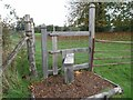 TQ6835 : A stile on the grounds of Scotney Castle by Hywel Williams