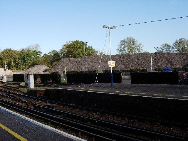 End of Fareham railway station
