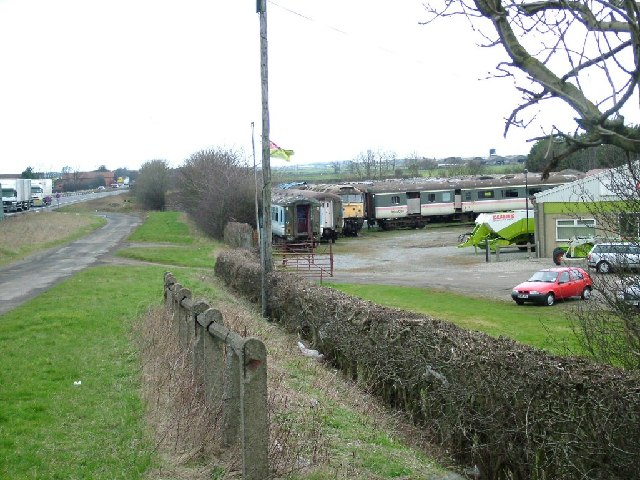 Railway Vehicles adjacent to A1, Sinderby