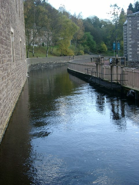 The lade at New Lanark