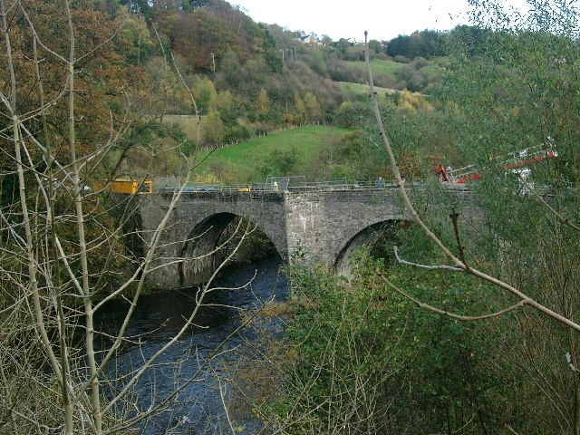 The old bridge at Kirkfieldbank
