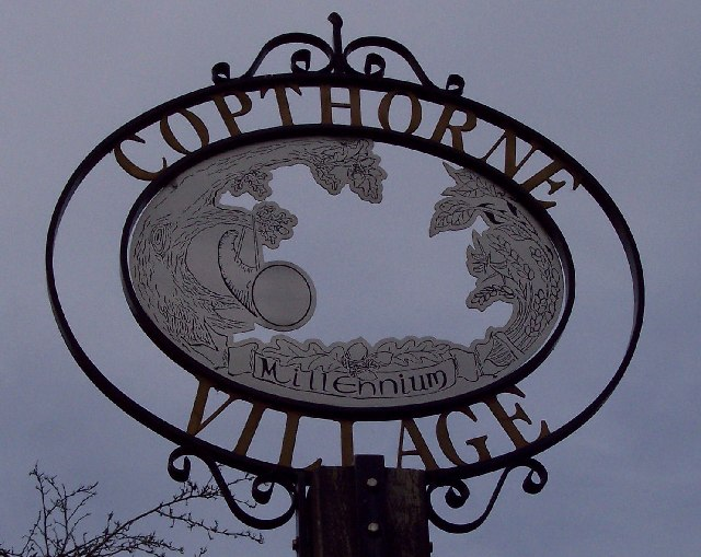 Copthorne village sign
