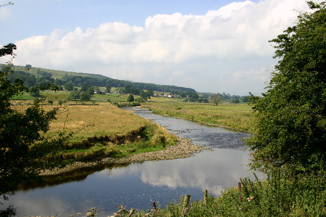 The River Ure east of Nappa Mill
