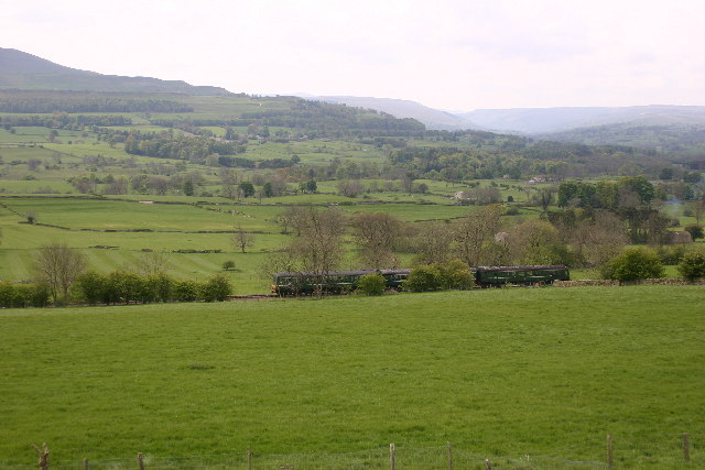 The Railway Line just outside Redmire