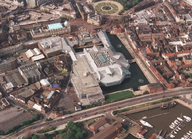 Prince's Quay Shopping Centre Hull, and part of Hull Marina