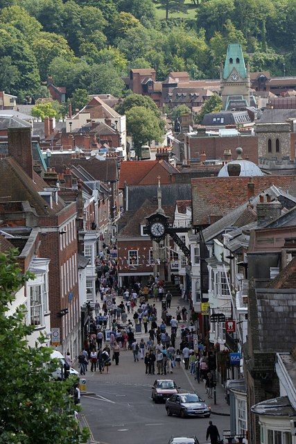 Top of Winchester High Street seen from Westgate