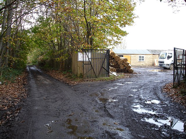 Entrance to fencing yard on Water Lane